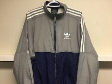 Vintage Adidas Nylon Blue Track Jacket-90'sMade in Macau Sz M EXCEL. Cond.