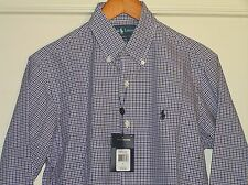 Ralph Lauren Men's Casual Sport Shirt Plaid Lavender Pony L/S Small SM S NEW