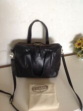 Fossil Sydney Satchel In Black Leather Comes With Dustbag