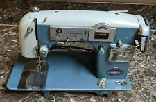 White Automatic Twin Needle 465 Sewing Machine Vintage Tested See Description