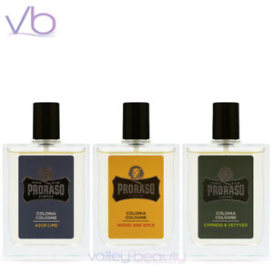 PRORASO Single Blade Eau De Cologne Azur Lime, Cypress & Vetyver, Wood and Spice