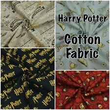 Harry Potter Hedwig Dumbledore Hogwarts Magic Wand 100% Cotton Patchwork Fabric