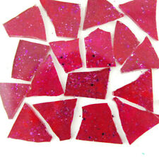 PINK Mosaic Glitter Glass Tile:  Metallic BERRY by Makena Tile 50 pieces