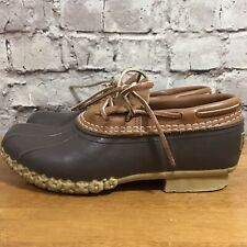 LL Bean Women's Low Ankle Duck Boots Shoes Leather & Rubber Size 6