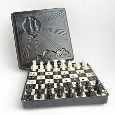 VTG pocket travel road chess Moscow Soviet Union Russian bakelite box USSR 1960