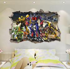 Generic Transformer Autobots Break The Wall 3D Wall Stickers Vinyl Decal Kids