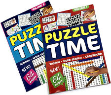 A4 PUZZLE BOOK CHILD & ADULT ACTIVITY WORDSEARCH SUDOKU BORED AT HOME OFF SCHOO