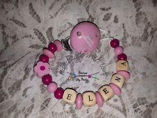 Portaciuccio con nome clip piccola principessa rosa