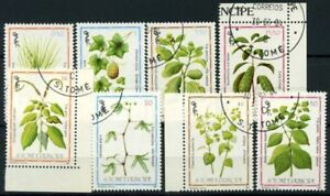 Saint Thomas and Prince Islands 1983 Mi. 861-868 Used 100% plants Nature