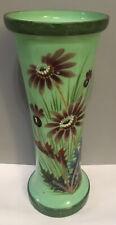 Coloured Glass Vase Flower Design