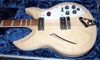 MINT! Rickenbacker 381v69 Maple Glo Electric Guitar Original Case Flame Body!