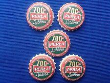 Kapsle z piwa - Perła -  okoliczniosiciowe 700 lecie Lublina - 5 szt.