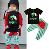 NEW Dr Seuss Grinch Naught Boys Christmas Short Sleeve Outfit Set 2T 3T 4T 5T