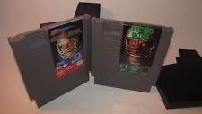Tecmo Bowl And Tecmo Super Bowl (Nintendo, NES) Games SuperBowl w/ Dust Sleeves