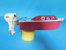 VINTAGE JOHNSON SUPER SEA HORSE ELECTRIC TOY BOAT & MOTOR 40HP FISH SKI CRUISE