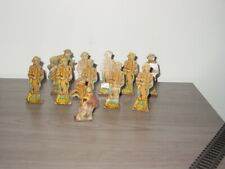 11 Vintage 1930's Marx Tin Litho Stand Up Target Soldiers