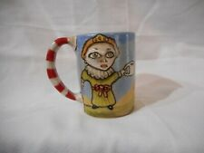 Stacy Lambert NC Pottery Coffee Mug Cup Southern Folk Art Big Eye Queen