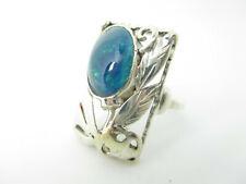 Art Deco Silber Ring Opal Vintage silver ring gem 15,75 mm