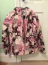 Pink Animal Ski Jacket, Size Kids Medium