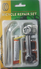 Bike Tyre Tube Puncture Repair Tool Set Rubber Patches Glue Tyre Levers Rasp
