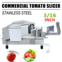 "3/16"" Commercial Tomato Slicer Fruit Vegetable Cutter Tomato Cutting Machine"