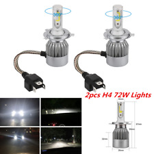 2x H4 7600LM 6000K C6 72W COB LED Chip Car Headlight Kit Hi/Lo Turbo Light Bulbs