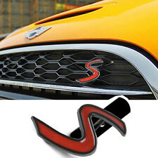 1 Ps Red Black S Grill Kidney Alloy Sticker Badge Emblem For All MINI Cooper & S