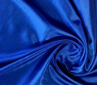 "Royal Blue PLAIN TAFFETA Fabric Polyester Faux Shot Silk 58"" By The Yard"