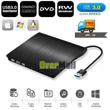 USB 3.0 External Optical Drive High Speed CD Burner DVD Player For PC Laptop