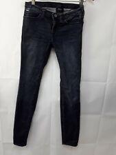 Boys jnr Jeans Skinny Denim Armani Size W26 Blue Zip Fly