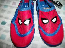 Marvel Spider-Man Water Shoes Red Blue Mask Toddler Size 5-6