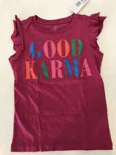NWT 6-7 M PEEK Aren't You Curious plum ruffle GOOD KARMA top tee t-shirt SOFT!