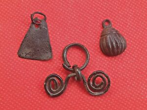 Parts of jewelry and amulets of the Viking Age