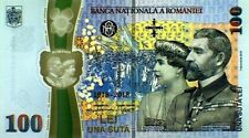 ROMANIA 100 LEI New 2018 Commemorative POLYMER NOTE + Folder KING & QUEEN NOTE