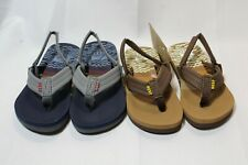 c1abb236ab41 NWT Toddler boys Reef Ahi thong sandals with back strap blue gray or brown