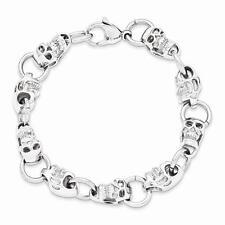 """New Chisel Stainless Steel Polished Skull Bracelet 8.75"""""""