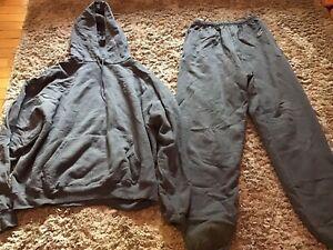Mens Vintage Gray Champion Sweatsuit Joggers/hoodie Sz. Medium/xl