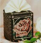 VINTAGE ROSE TISSUE TOPPER COVER HOME DECOR PLASTIC CANVAS PATTERN INSTRUCTIONS