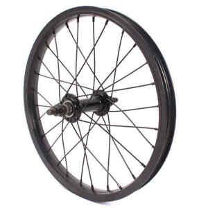"KHE 16 "" Inches BMX Front Wheel Black 28mm Aluminium Tdi Rim 28 Hole 10mm S/B"