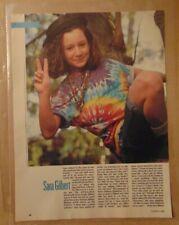 1980's SARA GILBERT Roseanne TV SHOW Original 1989 Print Article Clipping