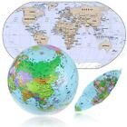New Inflatable Blow Up World Globe 36CM Earth Atlas Ball Map Geography Toy