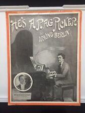 1914 He's A Rag Picker By Irving Berlin Vintage Sheet Music