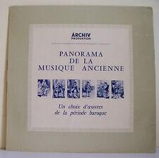 "33T PANORAMA MUSIQUE ANCIENNE Vinyl LP 12"" CHOIX OEUVRES BAROQUE -ARCHIV Rare"