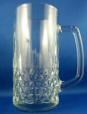 Nice Large 500ml Heavy Glass Tankard with Handle VG Man Cave Collectable -In Aus