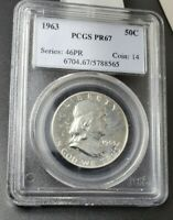 1963 P Franklin Silver Half Dollar Proof Coin PCGS PR67 Gem Proof