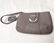 GUESS Women's Zipped Clutch PURSE Small HAND BAG Donna SLG Taupe NWT NEW
