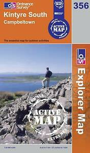 Kintyre South Campeltown - OS Explorer ACTIVE Map 356(NEW 2006 folded sheet map)