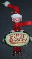 KURT ADLER MOM'S FAVORITES FIRST BORN CHRISTMAS ORNAMENT BOY COLLECTABLE