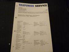 Original Service Manual Telefunken S 80