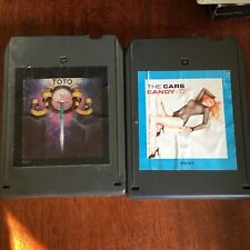 2 tapes The CARS CANDYO-O & TOTO   8 Track tape  Tested   We ship international